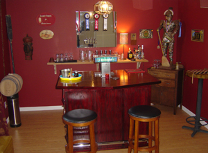 Kegerator or keezer home brew forums for Home bar with kegerator space